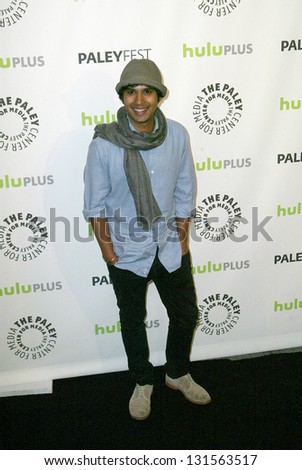 BEVERLY HILLS - MARCH 13: Kunal Nayyar arrives at the 2013 Paleyfest \