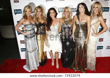 BEVERLY HILLS - OCT 11:  Camille Grammer, Adrienne Maloof, Kyle Richards. Kim Richards at the 'The Real Housewives of Beverly Hills' series party at Trousdale, Beverly Hills, CA on October 11, 2010.