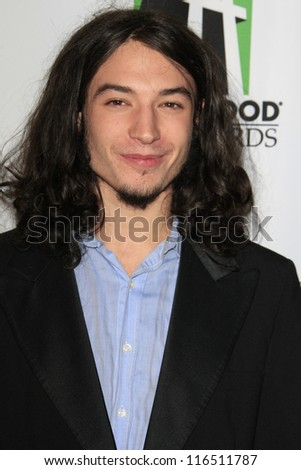 BEVERLY HILLS - OCT 22: Ezra Miller at the 16th Annual Hollywood Film Awards Gala at The Beverly Hilton Hotel on October 22, 2012 in Beverly Hills, California