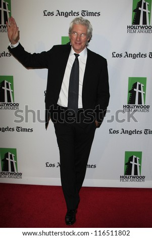 BEVERLY HILLS - OCT 22: Richard Gere at the 16th Annual Hollywood Film Awards Gala at The Beverly Hilton Hotel on October 22, 2012 in Beverly Hills, California - stock photo