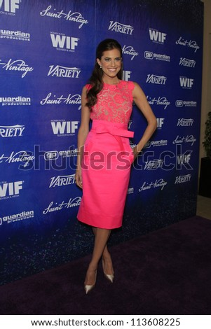 BEVERLY HILLS - SEP 21:  Allison Williams at the 'Variety and Women in Film Pre-Emmy Event' at Scarpetta on September 21, 2012 in Beverly Hills, California
