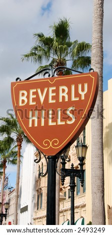 Beverly Hills sign leading to fame and fortune