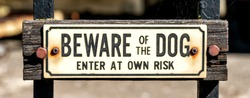 Beware of the Dog sign, United Kingdom