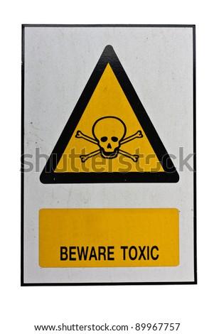 beware toxic sign ez canvas
