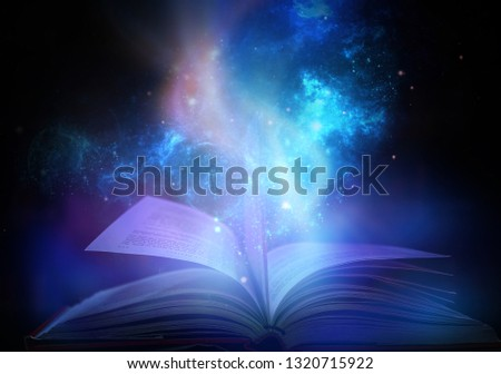 Bewitched Book With Magic Glows In The Darkness  #1320715922