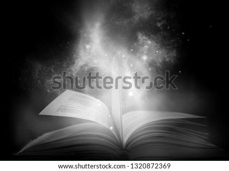 Bewitched Book With Magic Glows In The Darkness  #1320872369