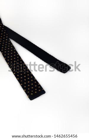 beyaz arka plan stüdyo çekim  kravat izole triko  kravat izole tylish Stok fotoğraf ©