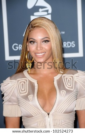 Beyonce Knowles at the 52nd Annual Grammy Awards - Arrivals, Staples Center, Los Angeles, CA. 01-31-10