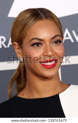 Beyonce Knowles at the 55th Annual GRAMMY Awards Staples Center Los Angeles CA 02-10-13