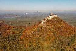Bezděz is a Gothic castle located some 20 kilometres  southeast of Česká Lípa, Czech Republic. Its construction began before 1264 by order of Přemysl Otakar II. Destructed in the Thirty Years' War.