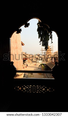 Bhaktapur Durbar Square as seen from window.