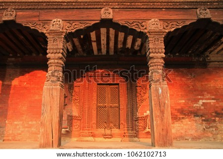 Bhaktapur Durbar Square, viem from Nyatapola Temple, Bhaktapur, Nepal