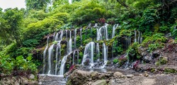 Bhuana Sari Waterfall is maybe 40 meters in front of Banyu Wana Amertha Waterfall. The area actually has five waterfalls to check out and they are some of Bali's best.