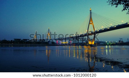 Bhumibol Bridge in the evening #1012000120