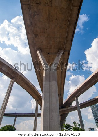 Bhumibol Bridge, The Industrial Ring Road Bridge in Bangkok, Thailand