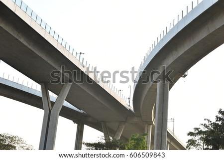 Bhumibol Bridge under a bridge a pier, a landing architecture #606509843