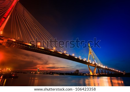 Bhumiphol Bridge in Bangkok of Thailand
