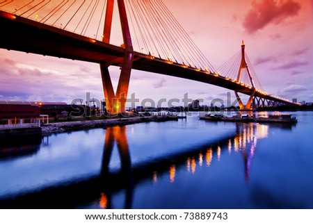 Bhummiphol Bridge - stock photo