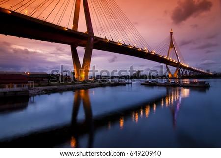 Bhummiphol Bridge in Thailand