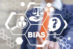 Bias Discrimination Business Work Office Employee Career Concept. Injustice Social Gender Problem.
