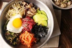 Bibimbap is a traditional Korean dish