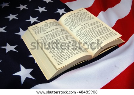 Bible, and American Flag