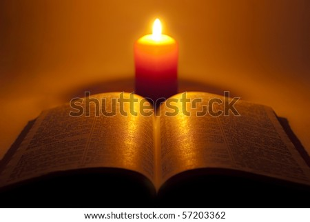 stock photo : Bible and other religious books.
