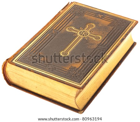 bible book on a white background