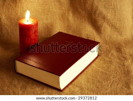 Bible in the textile background