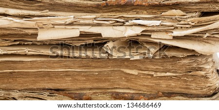 Bible, old book. Background of the pages - stock photo