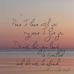 Bible verse superimposed over the sunrise on Lake Michigan.