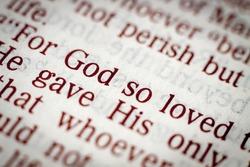 Biblical text. John 3.16. Golden verse