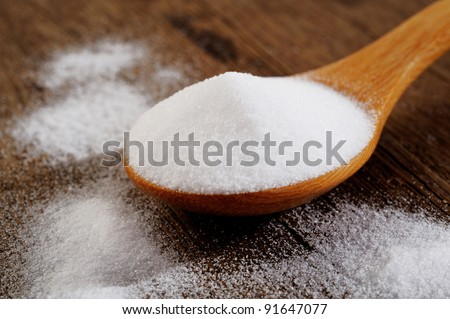 Bicarbonate in  wooden spoon