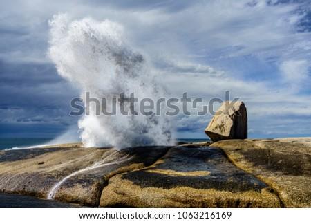 Bicheno Blow Hole, Tasmania.
