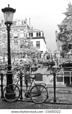 Bicycle and lamp the netherlands