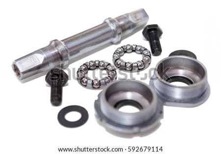 Bicycle bottom bracket,headset bearings,bearing cups and spindle