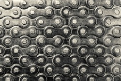 Bicycle chain background. Macro photography.