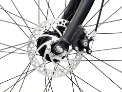 bicycle disk brake installed in front wheel