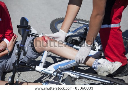 Bicycle fall