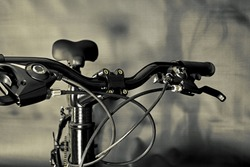 Bicycle Handlebars, brake levers, shifters, seat and cables