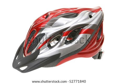 Bicycle helmet isolated on a white background