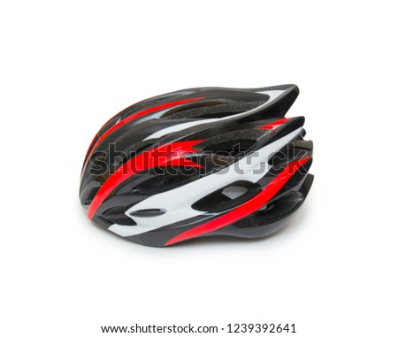 Bicycle helmet isolated on the white background #1239392641