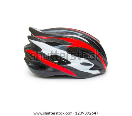 Bicycle helmet isolated on the white background #1239392647