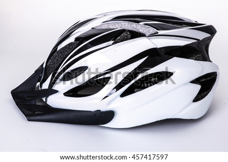 Bicycle helmet isolated on white background #457417597