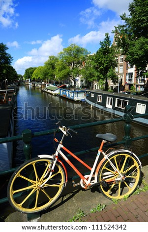 Bicycle in Amsterdam, Holland, Europe