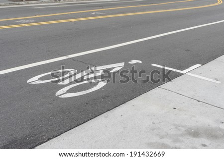 Bicycle lane on a street #191432669