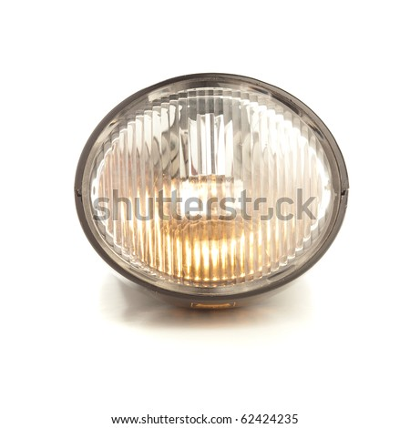 bicycle light isolated on a white background - stock photo