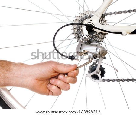 Bicycle Maintenance- adjusting the rear derailer on a road bike