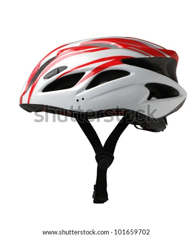 Bicycle mountain bike safety helmet isolated  #101659702