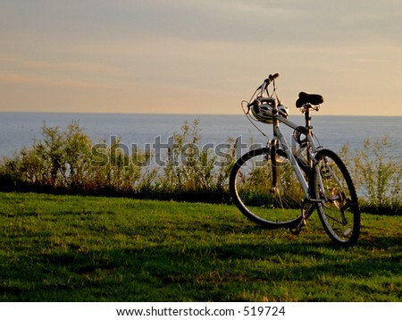 Bicycle on lakeshore